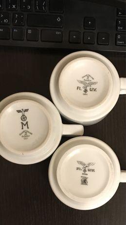 Кофейные чашки Вермахта, Люфтваффе. Третий Рейх, свастика.