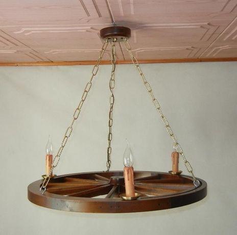 Lampa żyrandol świeczki