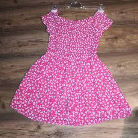 Czerwona sukienka w małe kwiatki rozmiar M