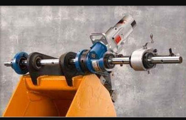 Mobilne wytaczanie, tulejowanie i roztaczanie maszyn i konstrukcji