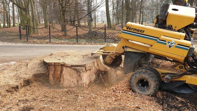 Frezowanie pni drzew, frezarka, karczownik do pni