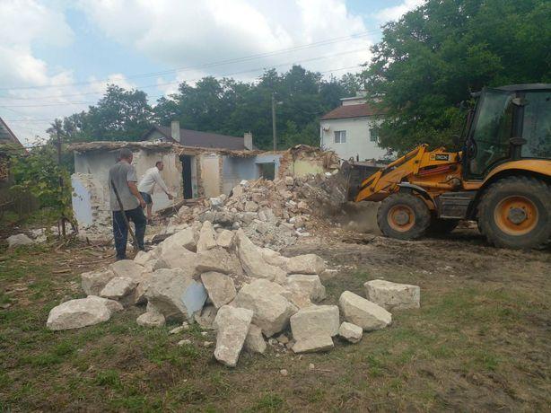 Демонтаж знос будівель деревяних та цегляних прибирання вивіз сміття