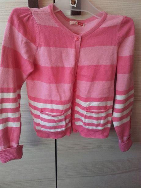 Dziewczęcy kardigan sweterek w paski 110/116 soul classic Kids