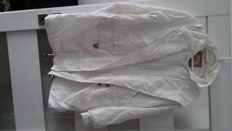 kurtka wiosenna biała z kapturem roz. XL