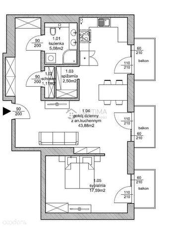 Apartament Na Ostatnim Piętrze. 900M Od Morza