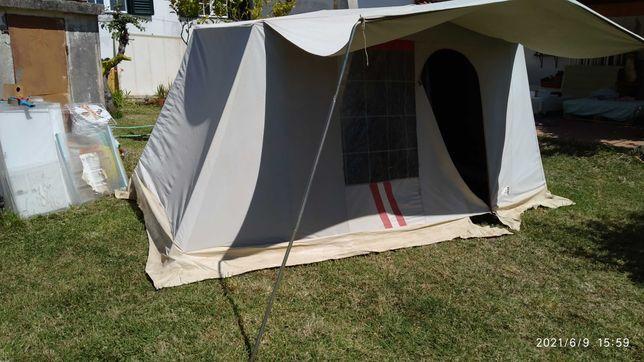 Tenda de campismo com 2 quartos + Cozinha/abrigo de campismo