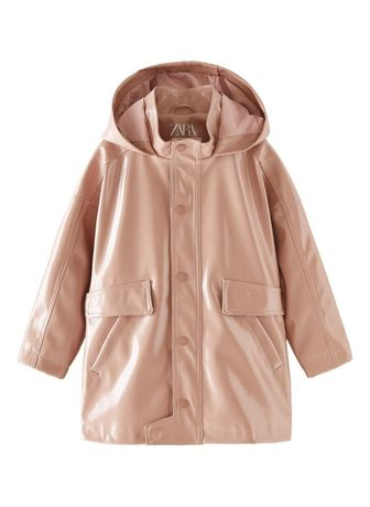 Новый детский розовый дождевик плащ куртка Zara, 134