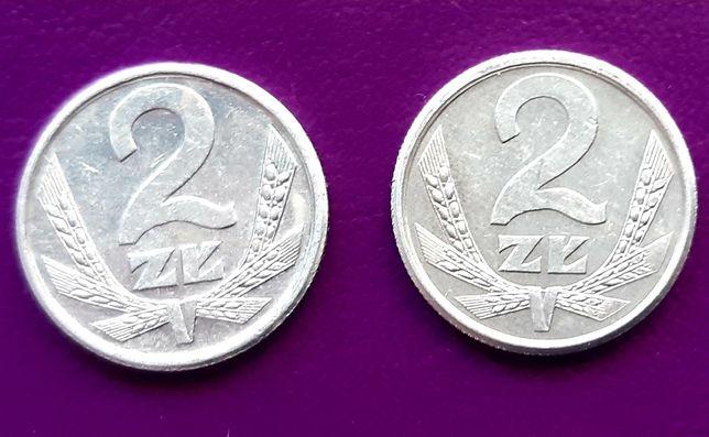 Moneta/Monety-PRL 2 ZŁOTE 1989/1990 - Piękne 2 szt.-Oryginały! Okazja!