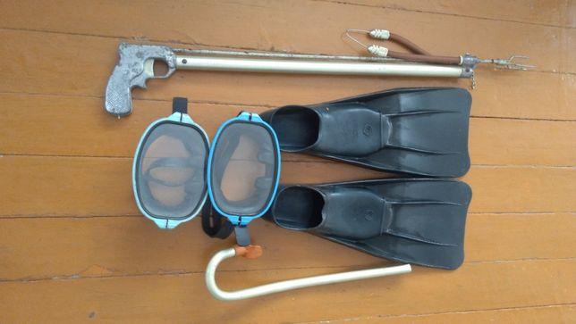 Продам маску, ласты, ружьё для подводной охоты