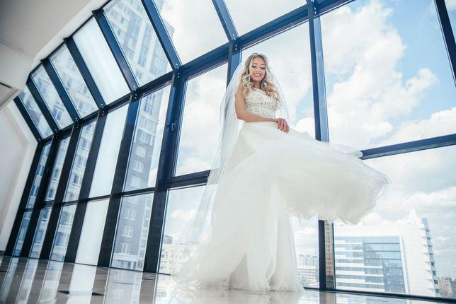 Шикарное свадебное платье Crystal Design