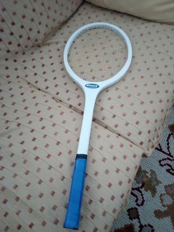 Raquete de tenis 69x24 cm de madeira