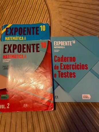 Expoente 10º ano Matemática A - Vol. 1 e 2 + Caderno de Atividades