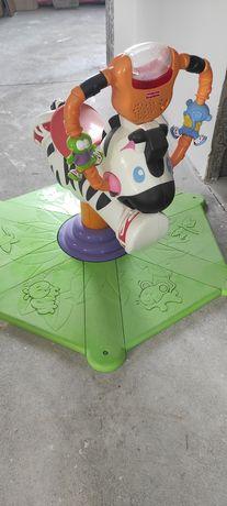 Skoczek zebra Fisher Price zabawka interaktywna
