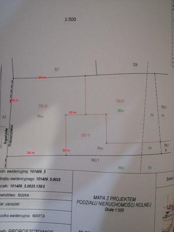 Działka budowlana Proboszczowice gm. Warta (12,37 ar)