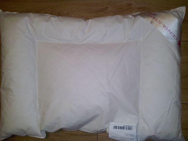 Płaska PUCHOWA poduszka podusia CENTA STAR 40 x 60 cm PUCH GĘSI nowa
