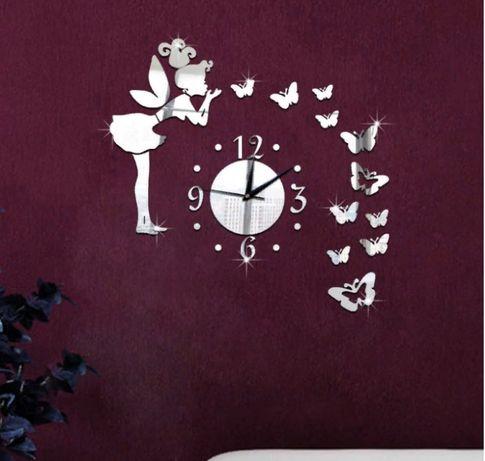 Коллекция настенные часы бескаркасные фея 3 д