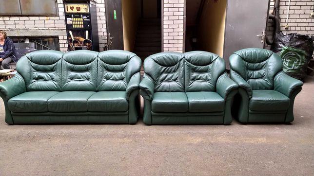 """Кожаный гарнитур 3-ка диван 2-ка кресло """"Himola"""" из Германии (040901)"""
