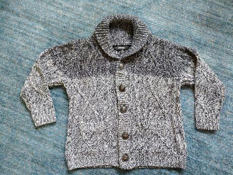Ciepły rozpinany sweter George r 92-98.