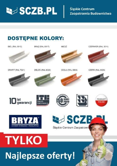Rynna dachowa PCV system rynnowy rynny BRYZA 75 100, 125 plastikowe