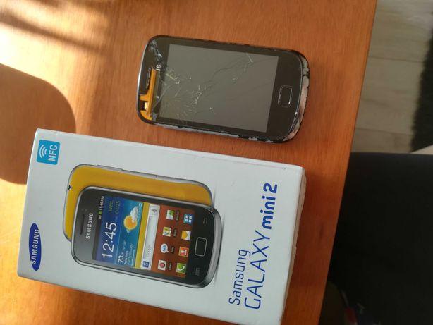 Telefon Samsung Galaxy mini 2 gt-s6500 uszkodzony ekran