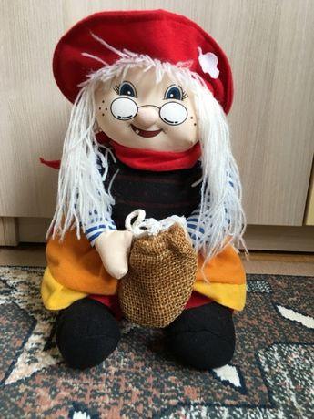 Мягкая игрушка бабка ежка бабушка мультик красная шапочка 30 см ручная