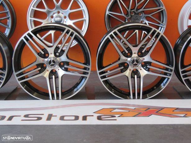 Jantes Look Mercedes AMG 17 x 8 et35 5x112 6.6 Preto + Polido
