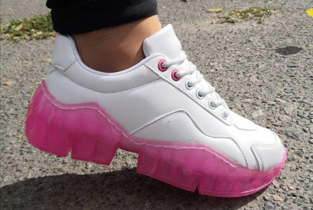 Кроссовки, мода 2021,розовая Подошва 36,37,38,39,40