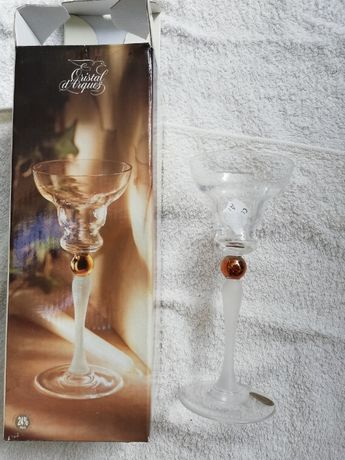 Castiçal Cristal d'Arques (novo e embalado)