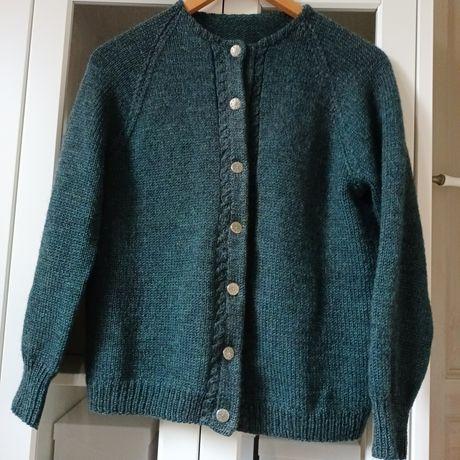 Wełniany sweterek Handmade S M 36 38 kardigan wełna wool sweter