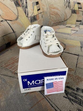 """""""MARKELL"""" новые ботиночки без планки - самый маленький размер (000М)"""