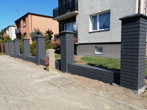 Ogrodzenia Ala klinkier nowoczesne producent kamień łupany betonowe