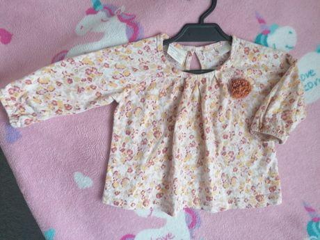 Bluzka tunika dla dziewczynki ZARA Baby r. 74