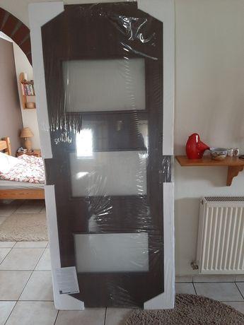 Skrzydło drzwiowe 80 ciemny brąz prawe