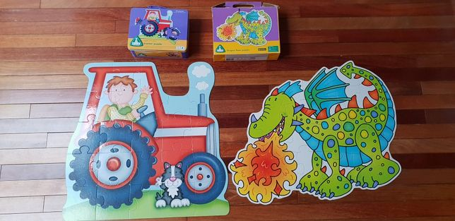 Puzzle 24 elementy ELC Mothercare traktor i smok