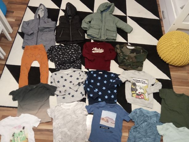 Zestaw kurtki kamizelka lęgi bluzy koszulki Zara Reserved hm Sinsay