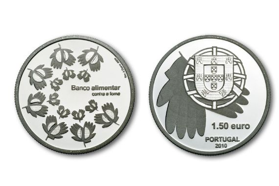 moeda Portugal 1,50€ 2010 Banco Alimentar Contra a Fome