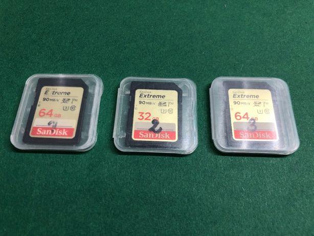 Karty pamięci SanDisk Extreme 3 szt. zestaw