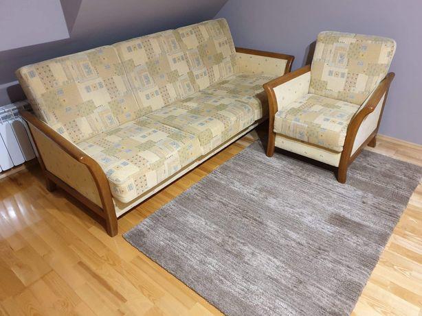 Kanapa z funkcja spania + fotel