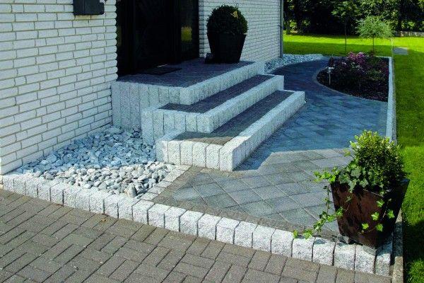 KO Palisada Granitowa Cięto ŁUPANA 10x10x20 cm Granit kostka Kamień