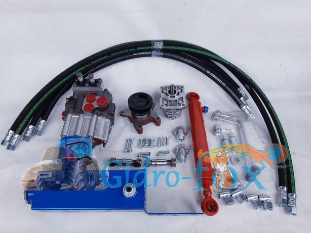Комплект гидравлики на мотоблок - минитрактор (Распределитель Р 80)