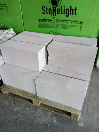 Продам  блоки газобетон (Stonelight), клей, цемент