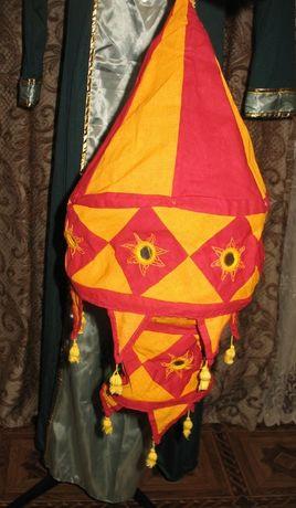 китайский индийский тканевый фонарик фонарь