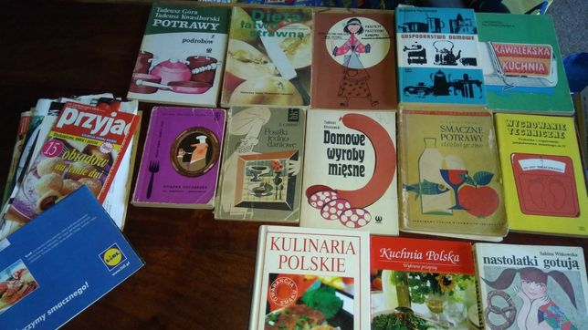 Literatura kulinarna, kuchnia polska, przetwory, domowe wyroby, itd