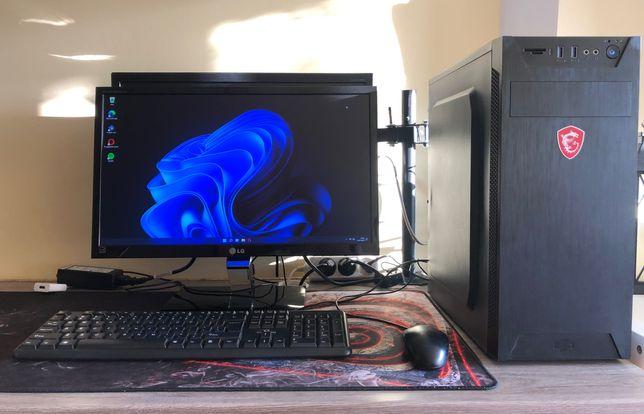 Zestaw PC (HACKINTOSH) i5 10GB 120SSD + Monitor, myszka, klawiatura