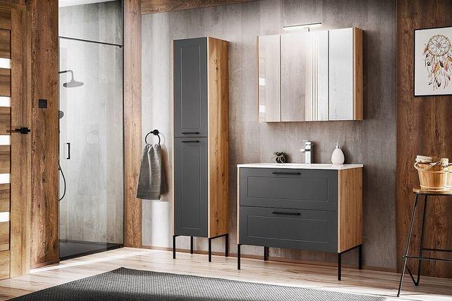 Zestaw mebli łazienkowych Madera : szafka pod umywalkę , słupek wysoki