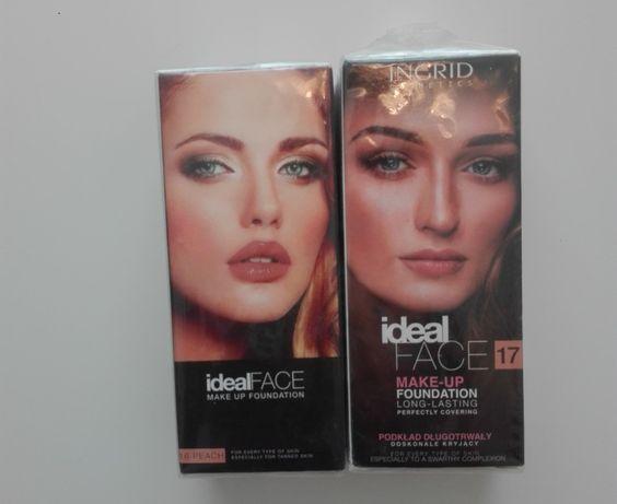 Podkład Ideal Face INGRID nowy, kolory 16- brzoskwiniowy 17-ciepły beż