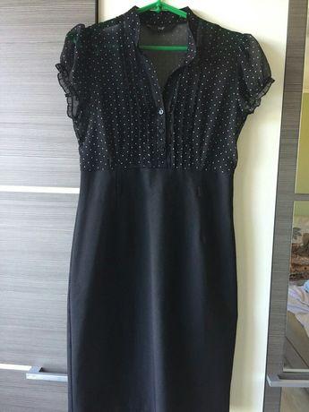 Платье класическое с шифоновым верхом