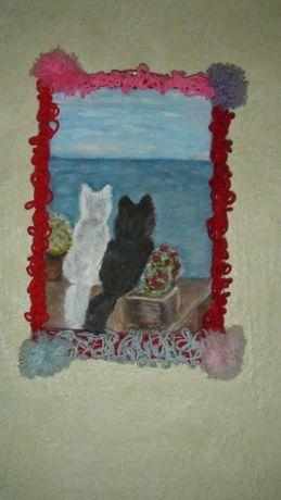"""Картина """"Коты"""". Подарок на любой праздник!"""