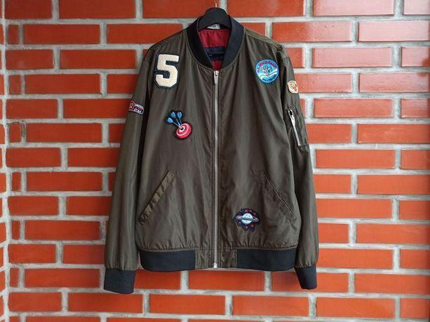Zara Man мужская куртка ветровка бомбер размер XL XXL
