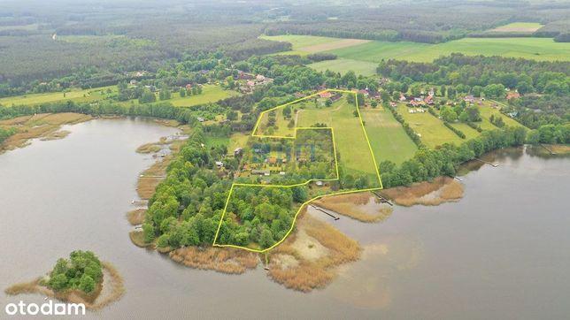 Grunt 3,9 ha z domem, dostęp do Jeziora Niewlino